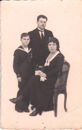 Couple avec enfant années 30